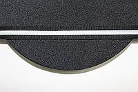 ТЖ 15мм репс (50м) черный+белый , фото 1