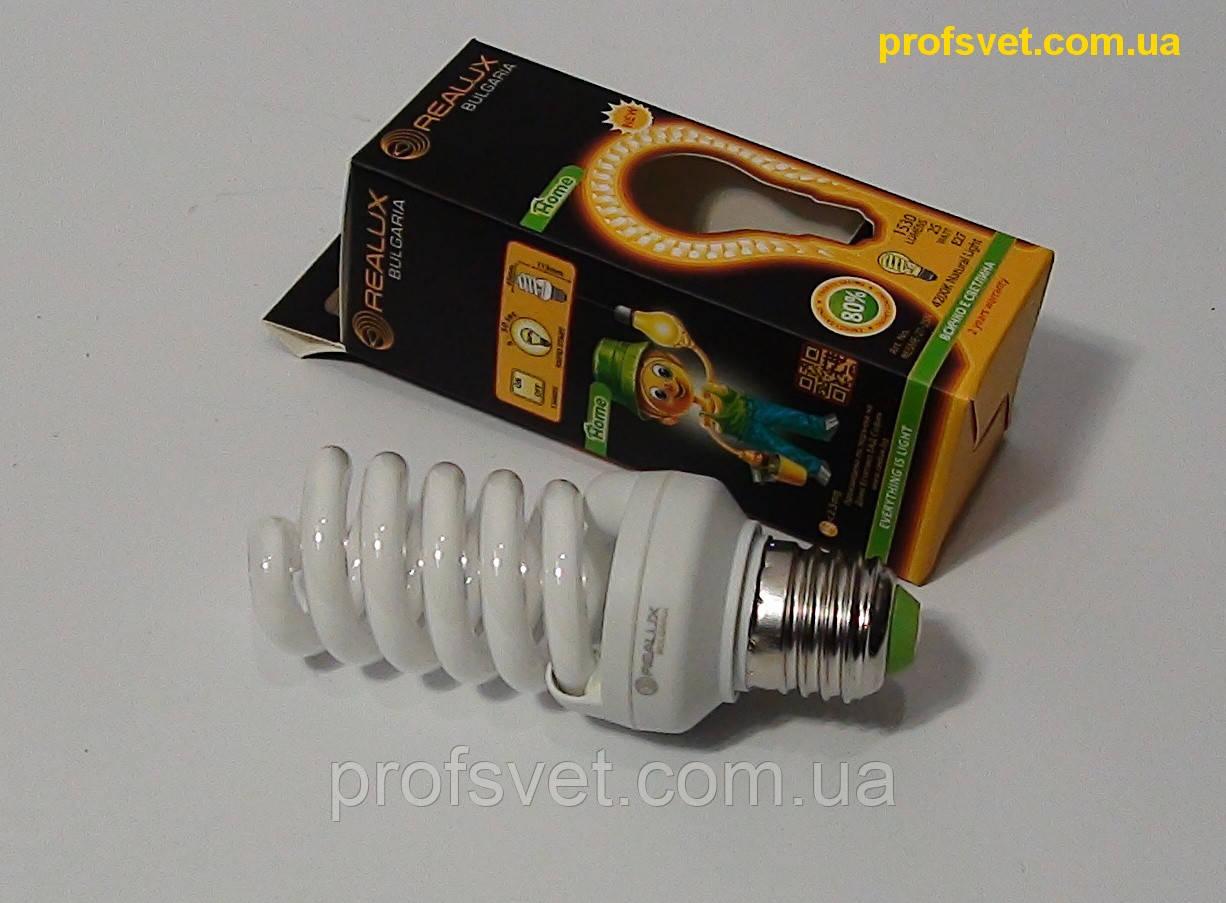 Лампа энергосберегающая 25 вт Е27 4200к Реалюкс