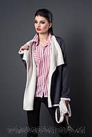 Молодежное пальто-кардиган с поясом размеры 44,46,48
