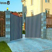 Распашные ворота Alutech