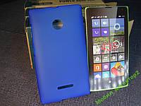 Чехол бампер силиконовый Nokia Lumia 435 Dual SIM / Lumia 532 Dual SIM синий