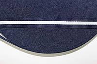 ТЖ 15мм репс (50м) т.синий+белый