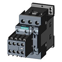 Контактор Siemens 12A 5,5кВт Типоразмер S0 с навесным блок-контактом (съемным)