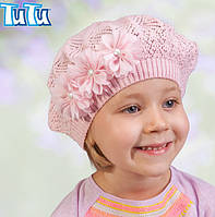 Головной убор для девочек Фиолетовый Осень 48-52 см 3-002548 Tutu Польша