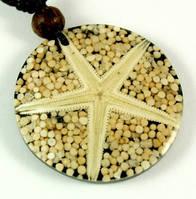 Подвеска Морская звезда + коралл