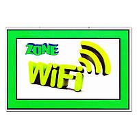 "Табличка ""WiFi Zone"" (ВайФай зона) зеленая"