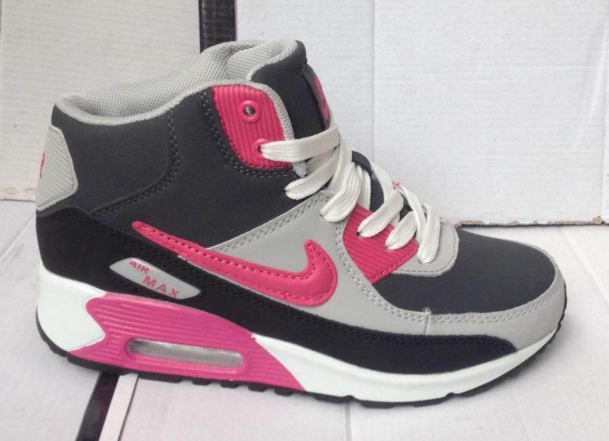 """Женские зимние кроссовки """"Nike AIR MAX"""" №703-2 (розовый)"""