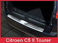 Накладка на задний бампер из нержавейки Citroen C5 Tourer ( 2008 -...)