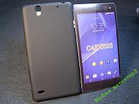 Чехол бампер силиконовый Sony Xperia C4 D5333 черный