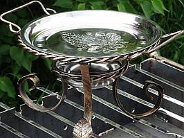 Садж кованный для подогрева шашлыка (блюдо) 28 см + крышка