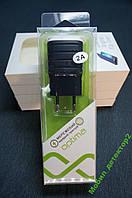 СЗУ сетевое зарядное 2 USB Optima 2100 мАч