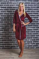Велюровый халат женский на запах, фото 1