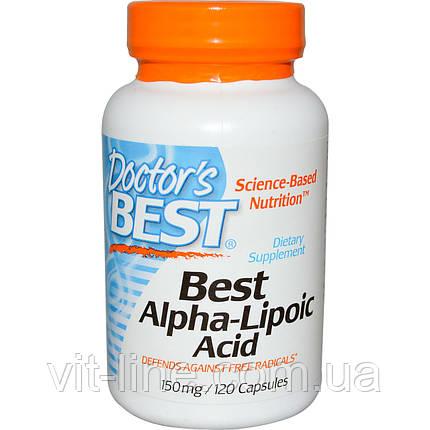 Doctor's Best, Лучшая альфа-липоевая кислота, 150 мг, 120 капсул, фото 2
