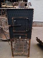 Печь-буржуйка в кованном дизайне дерево-уголь 5мм