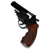 """Револьвер флобера STALKER S 4,5"""", wood, (барабан - силумин), коричневая пластиковая рукоять, фото 3"""