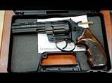 """Револьвер флобера STALKER S 4,5"""", wood, (барабан - силумин), коричневая пластиковая рукоять, фото 6"""