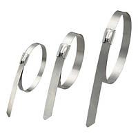 Кабельная стяжка металлическая 4,5х300 нержавеющая сталь (100 шт/уп)