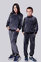 """Подростковый велюровый спортивный костюм унисекс """"Polo"""" с вышивкой и манжетами (2 цвета), фото 3"""