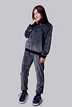 """Подростковый велюровый спортивный костюм унисекс """"Polo"""" с вышивкой и манжетами (2 цвета), фото 2"""