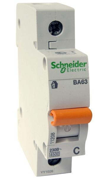 """Schneider electric""""Домовой"""" ВА63 1П 10А С"""