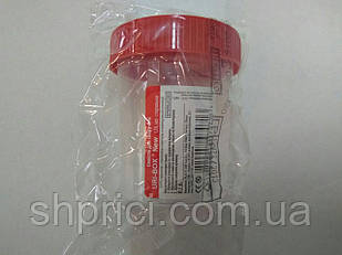 Ємність для забору сечі 120 мл стерильна URI-BOX New/ Ліван