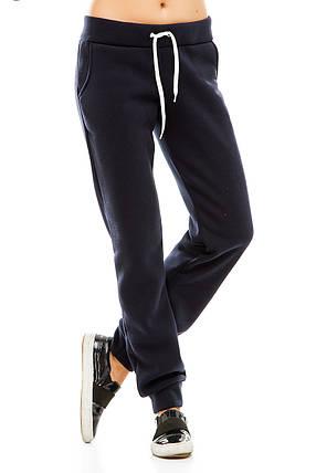 Женские спортивные штаны  302 темно-синие, фото 2