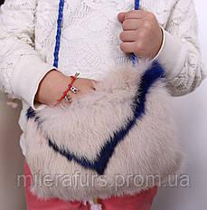Детская муфта-сумочка из натурального меха кролика