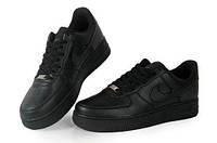 Женские кроссовки Nike Air Force Low Черные, фото 1