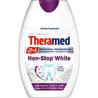 Зубная паста+жидкость для полоскания рта Theramed 2in1 Non-Stop White 75 мл.