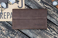 Мужское кожаное портмоне клатч Рейнграф коричневый