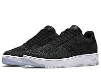 Женские кроссовки Nike Air Force Flyknit Low Black, фото 1