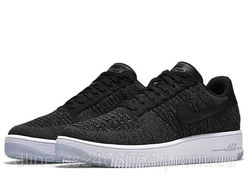 Женские кроссовки Nike Air Force Flyknit Low Black