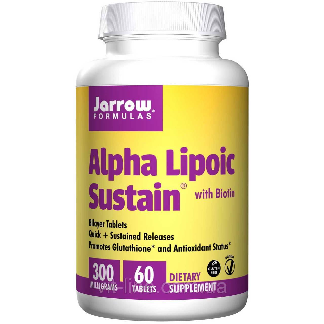 Альфа-липоевая кислота с биотином от Jarrow Formulas (60 таблеток; 300мг)