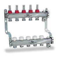 Распределительный стальной коллектор HKV-D с расходомерами