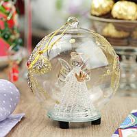 Сияющий шар с ангелом - на счастье!