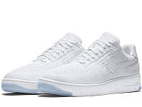 Женские кроссовки Nike Air Force Flyknit Low White
