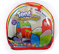 """Детская игровая палатка с тоннелем """"Тent funny"""" 999-202"""
