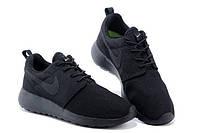 Женские кроссовки Nike Roshe Run Черные Mono, фото 1