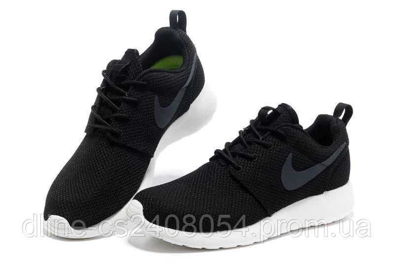 a1ce9f29 Женские кроссовки Nike Roshe Run Черное Лого / Белая подошва - KROSIKI  Обувной интернет магазин в