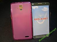 Чехол бампер силиконовый Lenovo A536  A358 T цвет розовый