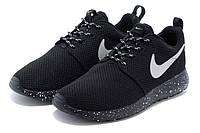 Женские кроссовки Nike Roshe Run Черные Oreo-Solo, фото 1