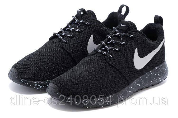 Женские кроссовки Nike Roshe Run Черные Oreo-Solo
