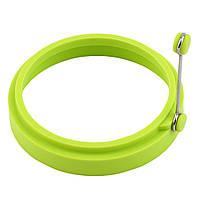 Силиконовая форма для яичницы  Круг зеленый