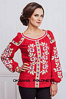 Червона вишита блуза
