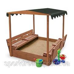 Песочница деревянная 4