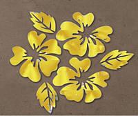 Зеркальный декор Цветы Золото( 3 шт)
