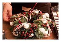 Рождественский венок - делаем сами. Пошаговая инструкция с фото