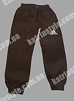 Детские теплые спортивные штаны на манжете