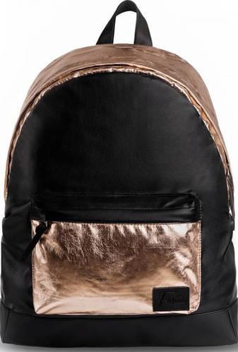 Эффектный женский городской рюкзак 20 л. Fusion Сhandon, черный с золотым