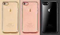 Прозрачный TPU чехол цветным бампером для iPhone 7 Plus / iPhone 8 Plus XO
